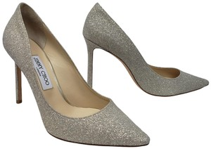 187c21b13572 Jimmy Choo Crystal Abel Anouk Metallic Glitter Gold Pumps