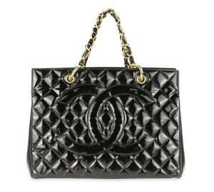 Chanel Vintage Quilted Tote in Black