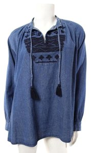Anthropologie Quittez Pas Chambray Boho Tunic