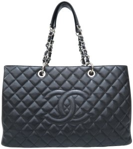 Chanel Grand Shopping Tote Caviar Shoulder Bag