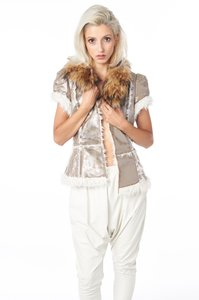 TOV Holy Metallic Fur Vest