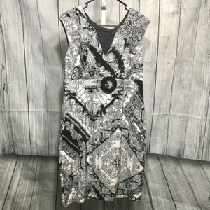 Connected Apparel short dress Black/White on Tradesy