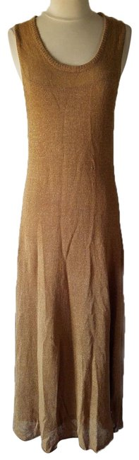 Item - Brown New Linen Rustic Knit Long Casual Maxi Dress Size 8 (M)