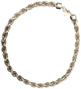 Lanvin twisted gold choker