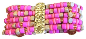 Lilly Pulitzer Pink Punch Stretch Bead