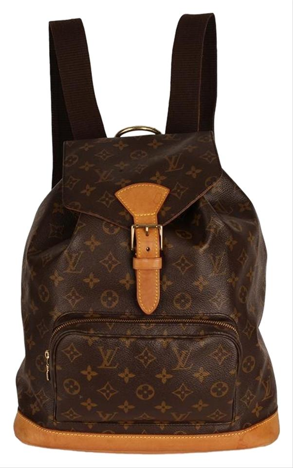 2700450b80d6 Louis Vuitton Montsouris 6785 Brown Canvas Backpack - Tradesy
