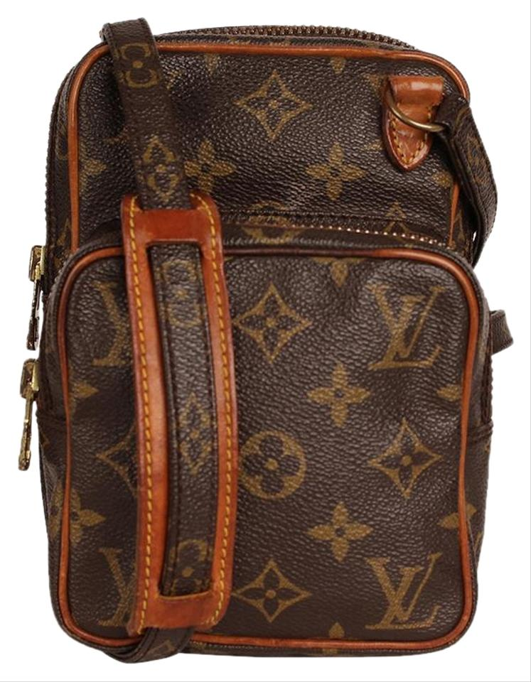 72f77aef6398 Louis Vuitton Amazon 6780 Brown Canvas Cross Body Bag - Tradesy