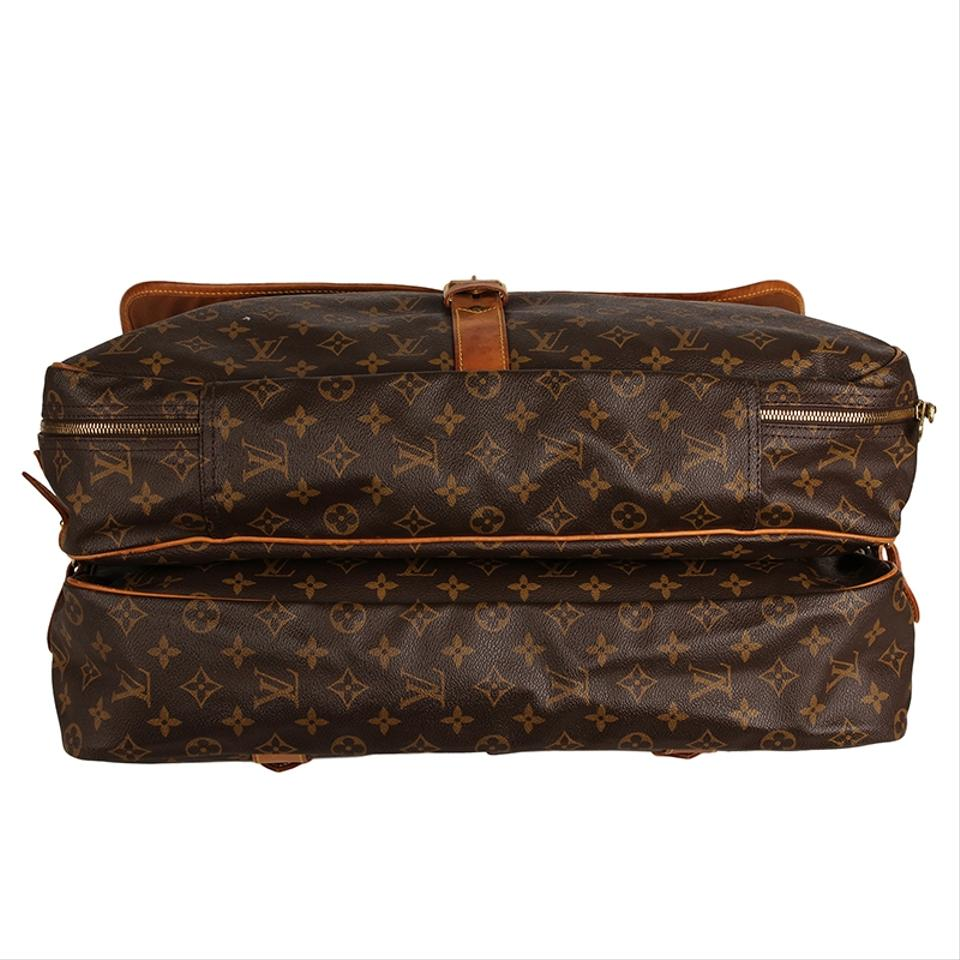 eb9253cf Louis Vuitton Sac Chasse Hunting 6773 Brown Canvas Weekend/Travel Bag 67%  off retail