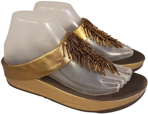 FitFlop Woman Fringes Thongs gold Sandals