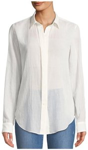 Theory Button Down Shirt Ivory