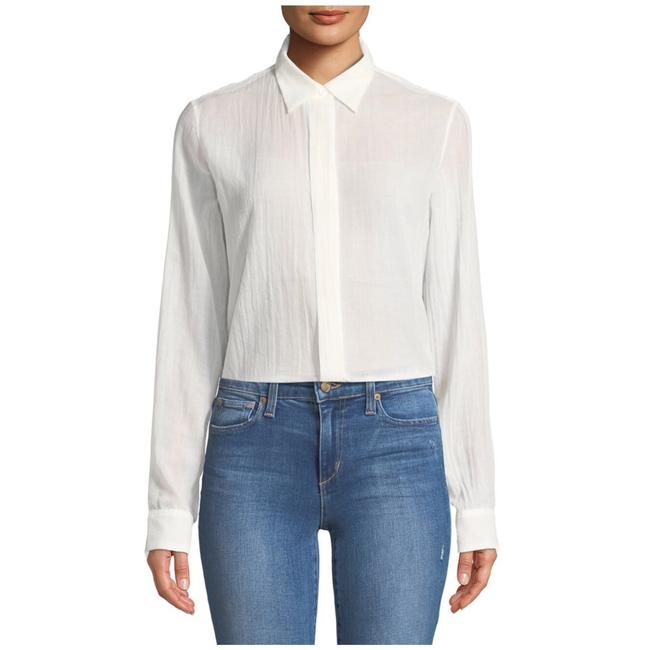 Theory Button Down Shirt Ivory Image 1