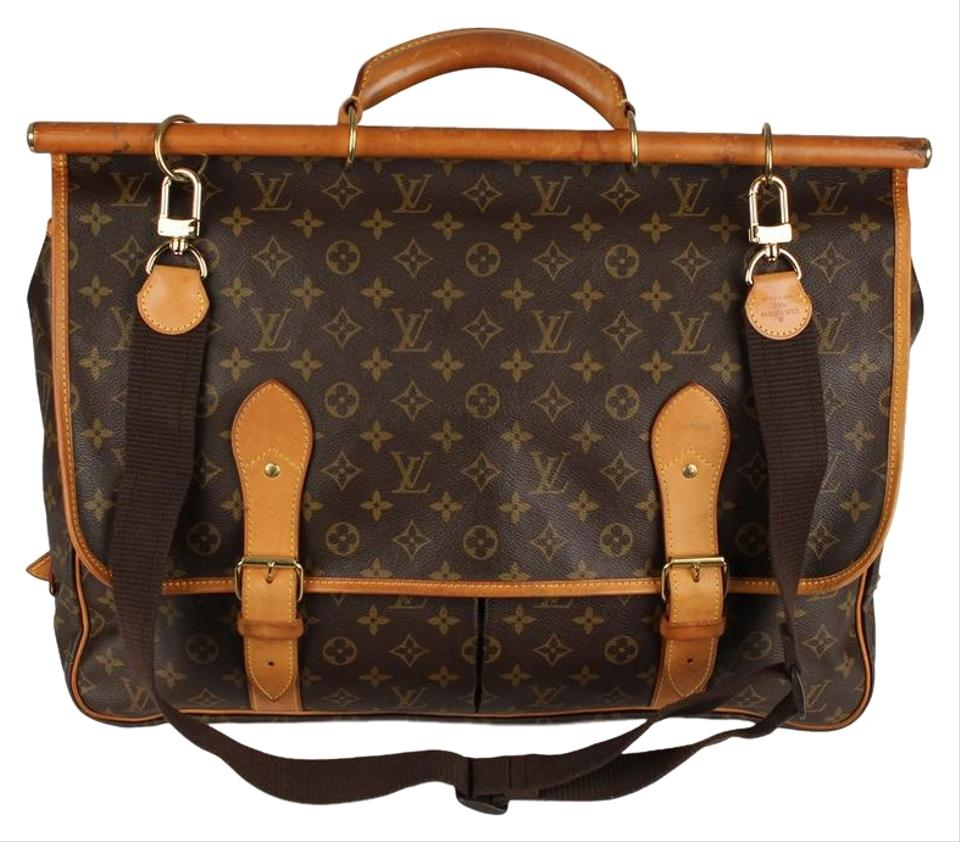 1e128e50e0b Louis Vuitton Hunting Sac Chasse 6798 Brown Canvas Weekend Travel ...