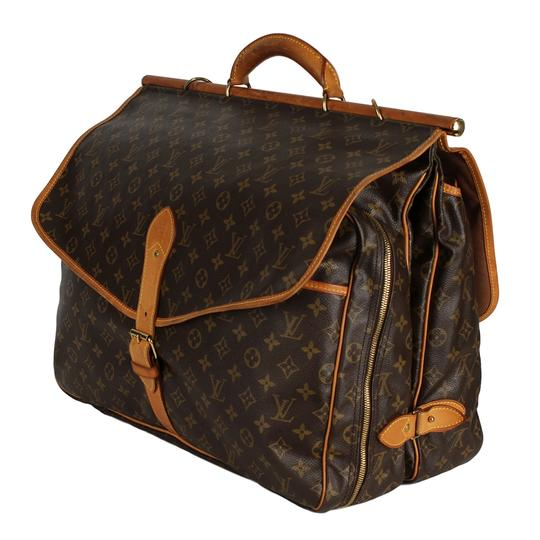 Louis Vuitton Hunting Sac Chasse Weekend/Travel Monogram Vintage Brown Travel Bag