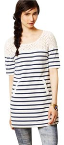 Anthropologie Lace Stripe Tunic