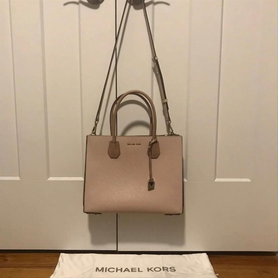 af888900c5729c MICHAEL Michael Kors Large Mercer Accordion Fawn Soft Pink Pebble ...