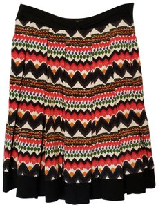 28309f03ed Anthropologie Pleated Polyester Tribal Print Skirt Multi-colored