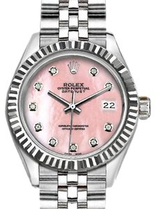 Rolex Rolex Ladies 26 Mm Datejust with Pink Mother Of Pearl Dial Watch