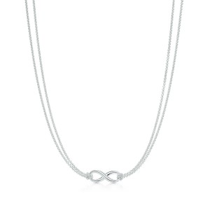 Tiffany & Co. Tiffany Sterling Silver Infinity Necklace