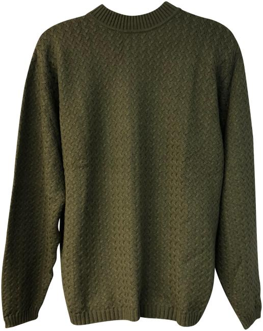 Preload https://img-static.tradesy.com/item/24311908/cable-wool-blend-knit-men-s-xxl-dark-green-sweater-0-1-650-650.jpg