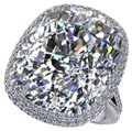 Other Big Promise Ring 925 sterling silver 8ct Zircon Cz Engagement Wedding Image 0