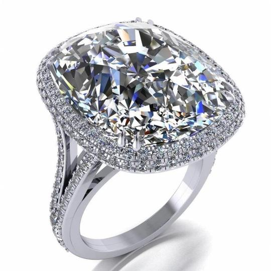 Other Big Promise Ring 925 sterling silver 8ct Zircon Cz Engagement Wedding Image 2