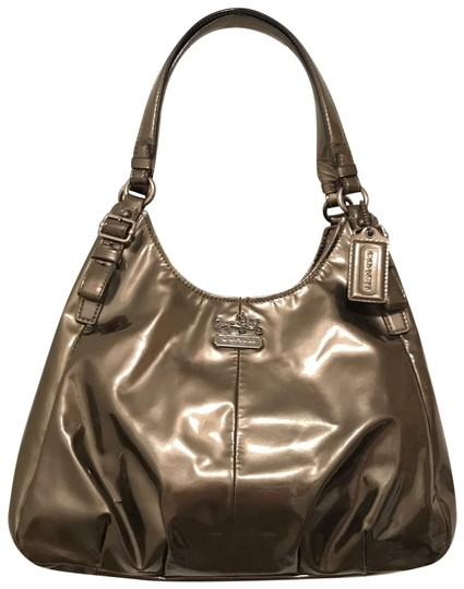 Preload https://img-static.tradesy.com/item/24312184/coach-maggie-madison-f18760-pewter-gray-silver-gunmetal-patent-leather-shoulder-bag-0-1-540-540.jpg