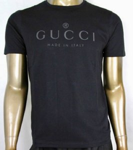 Gucci Black Logo Cotton Xxl Shirt