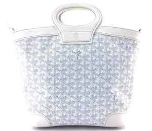 Goyard Tote in white Goyardine canvas and leather