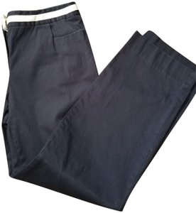 Talbots Casual Stretchy Pockets Trouser Pants blue/white