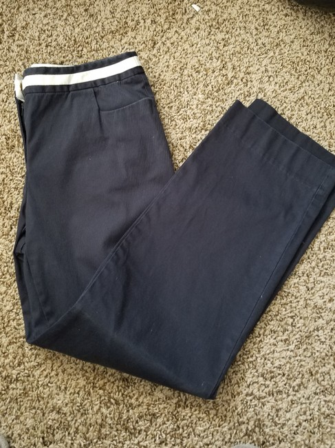 Talbots Casual Stretchy Pockets Trouser Pants blue/white Image 2