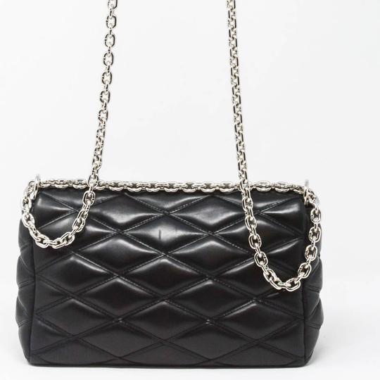 Louis Vuitton Quilted Leather Chain Silver Hardware Shoulder Bag Image 3