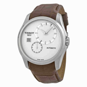 Tissot Couturier Automatic Chronograph Silver Dial Men's Leather Watch