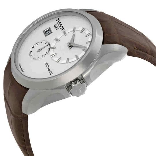 Tissot Couturier Automatic Chronograph Silver Dial Men's Leather Watch Image 1
