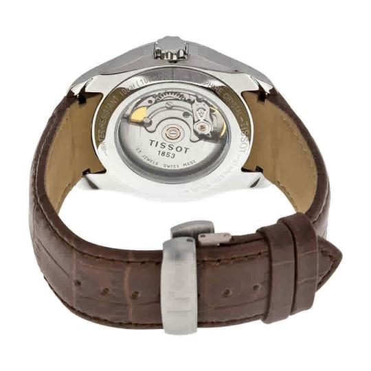 Tissot Couturier Automatic Chronograph Silver Dial Men's Leather Watch Image 2