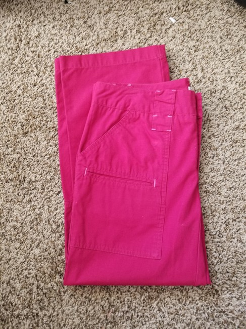 Izod Pockets Capris Red Image 2