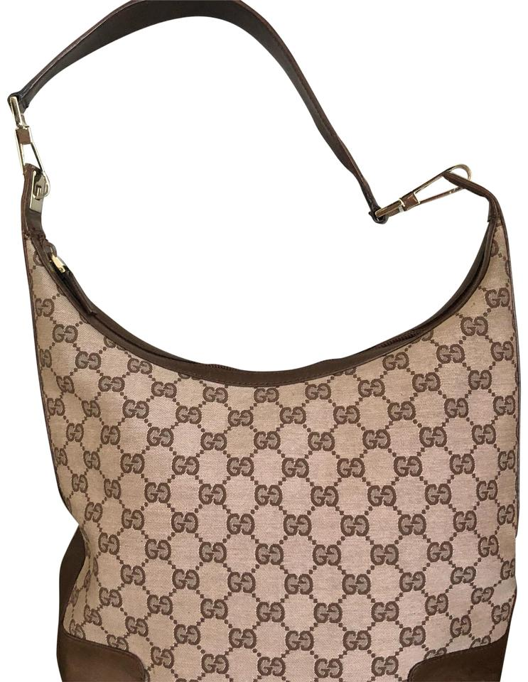 f009320d4 Gucci W Fabric Monogrammed W/Leather Trim Dust Rose/Brown Canvas ...