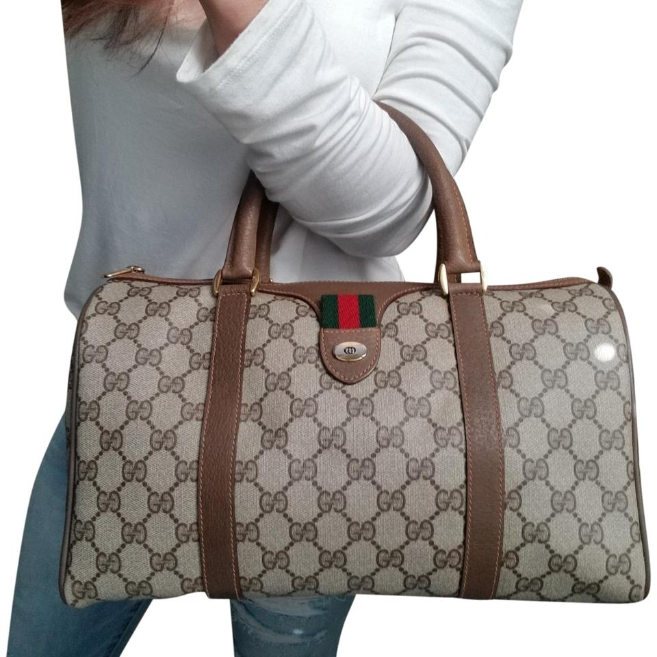 17fb66e6f7e37e Gucci Vintage Vintahge Vintage Vintage Purse Boston Satchel in Brown Image  0 ...