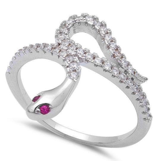 9.2.5 Stunning ruby snake cocktail ring size 7 Image 1