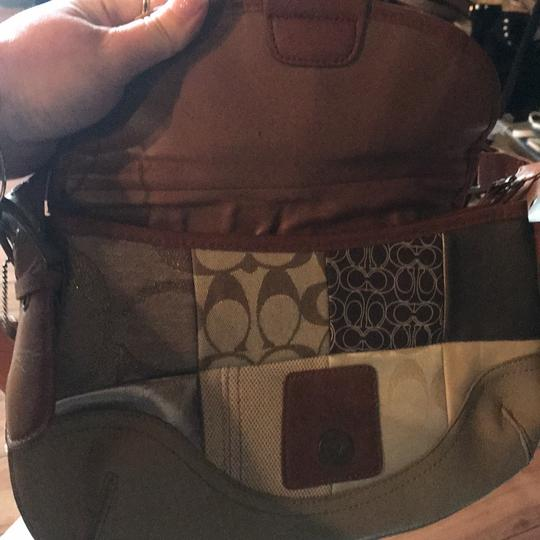 Coach Signature Leather Tote in neutral browns Image 1
