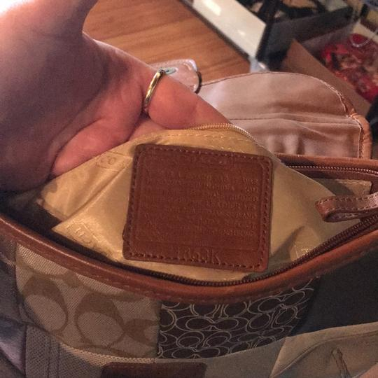 Coach Signature Leather Tote in neutral browns Image 2