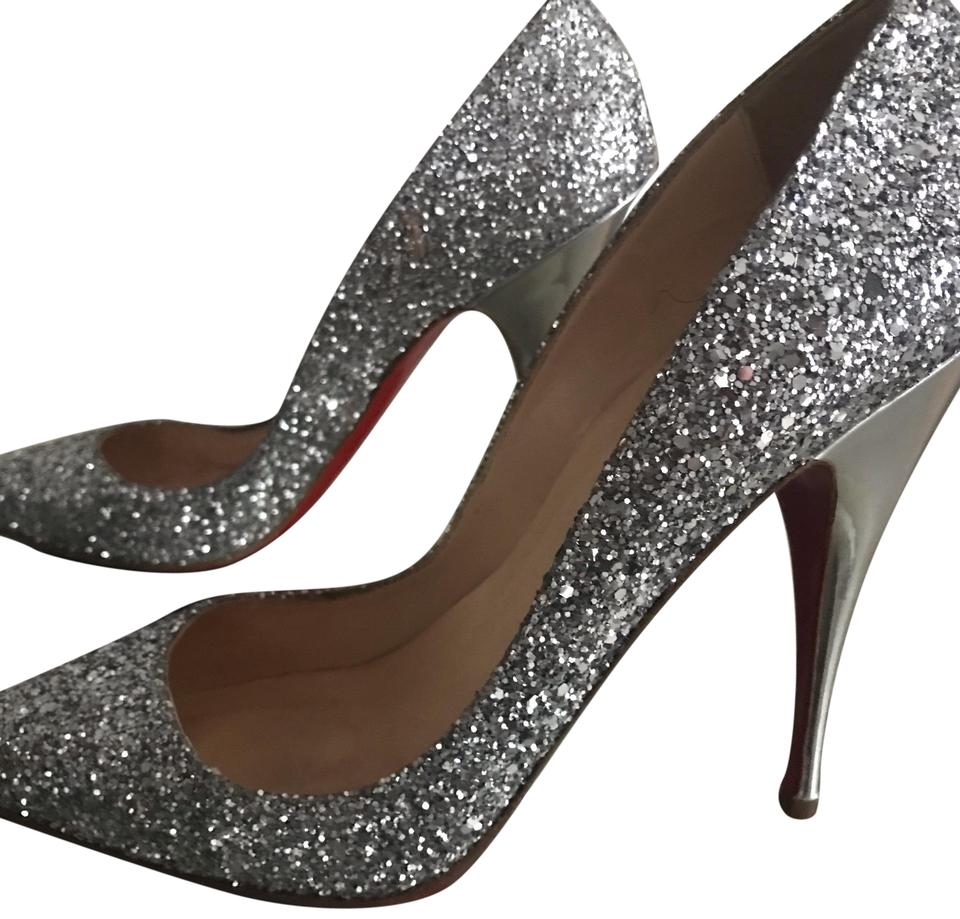 ee60f3dc1cf0 Christian Louboutin Silver Pigalle 120 Glitter Limited Edition Pumps ...