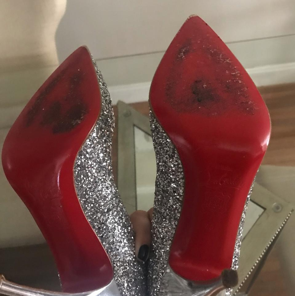 8a135d1d1026 Christian Louboutin Silver Pigalle 120 Glitter Limited Edition Pumps Size  EU 40 (Approx. US 10) Regular (M