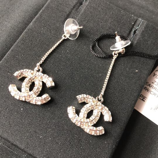 Chanel Chanel Crystals Dangling Earrings Image 1