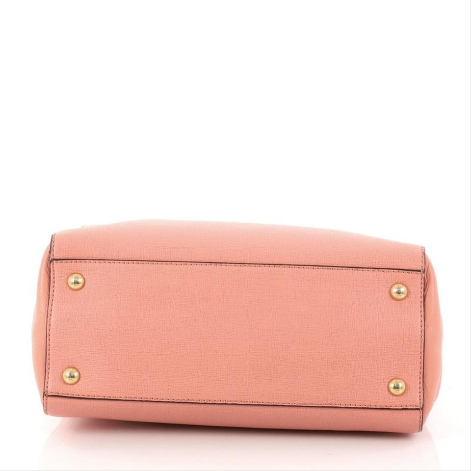 680154231a7e Fendi 2jours Handbag Petite Pink Leather Satchel - Tradesy