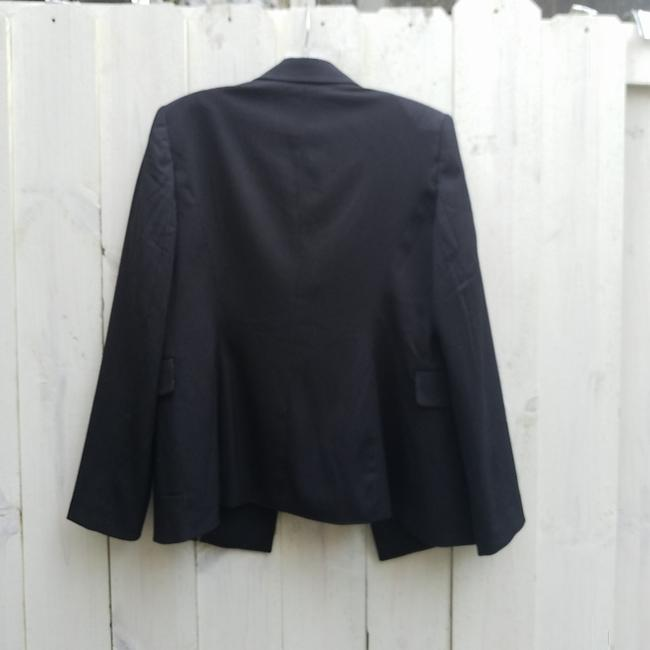 White House | Black Market Double Breasted Pinstripe Black Blazer Image 3