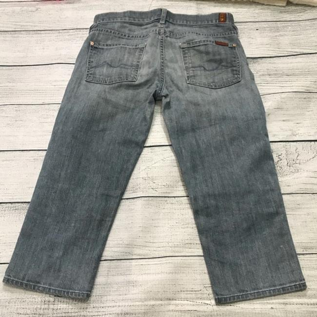7 For All Mankind Capris Blue Image 1