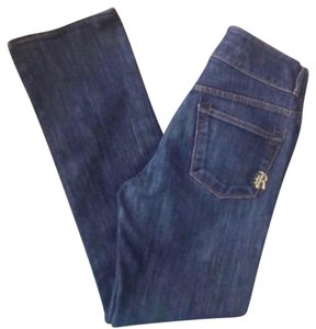 Rich & Skinny And High Rise Womens 26 X 29 Straight Leg Jeans-Dark Rinse
