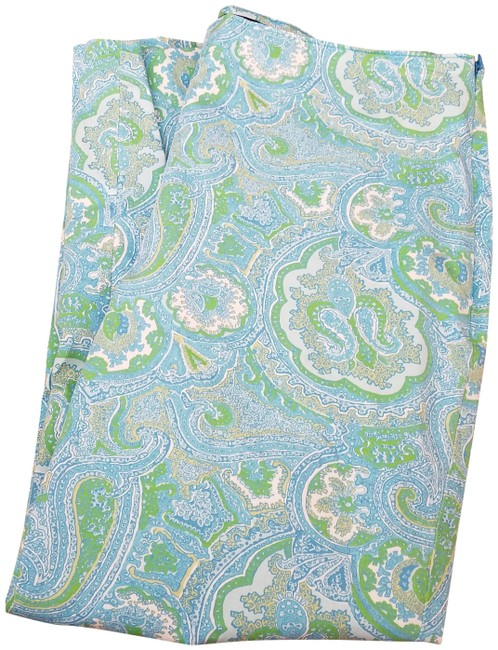 Talbots Paisley Side Zipper Capris Green/blue/white Image 0