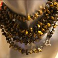 SX THAILAND 925 Sterling Silver Long Beaded Necklace Image 3