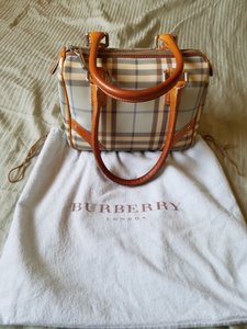 Burberry Satchel in Blue/Tan